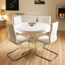 living room ideas terrys fabrics: large round high gloss white dining set table  high chairs ebay