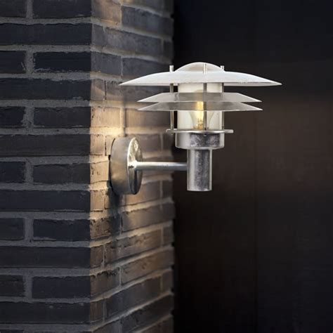 nordlux amalienborg outdoor wall light galvanised steel