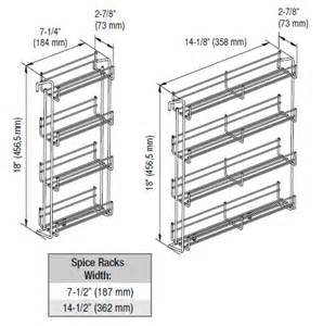 awesome Kitchen Cabinet Door Storage Racks #5: ful-ksh6156-specs.jpg