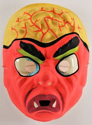vintage brainiac monster halloween mask aj quality