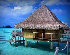 tiki hut vacations on the water bamboo tiki hut over the ocean tropical vacation location