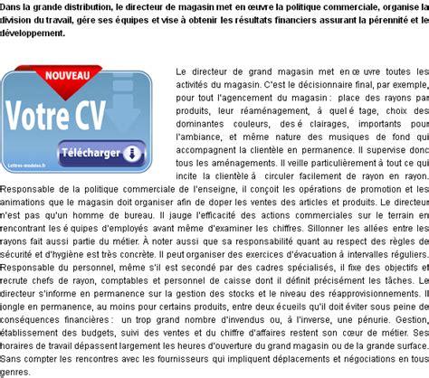 Lettre De Motivation Candidature Spontan E Formateur mod 232 le et exemple de lettre de motivation directeur de