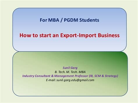 Mba In Import Export by How To Start An Export Import Business