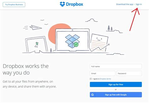 dropbox home dropbox login instructions how to sign in to dropbox