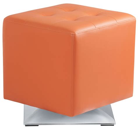 orange ottoman marco orange swivel ottoman 100894 sunpan modern home