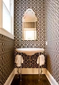 Powder Room Wall Paper Elegant Nest Powder Room Wallpaper