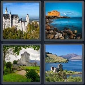 4 pics 1 word answer for chateau sea castle island