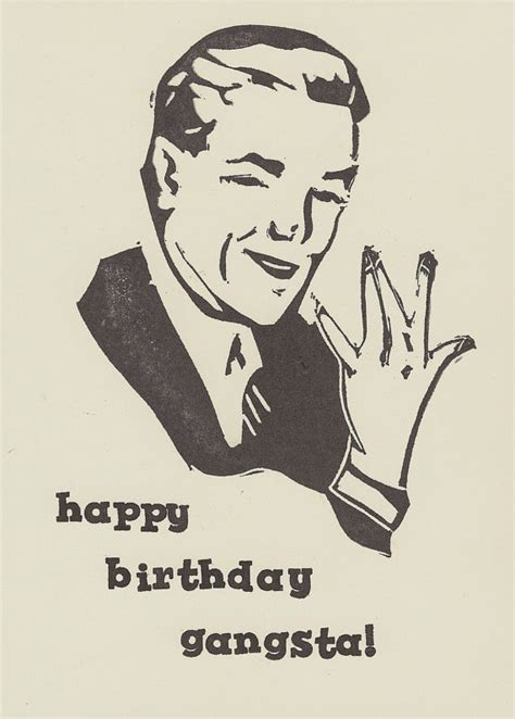 Gangster Birthday Cards Items Similar To Happy Birthday Gangster Humorous