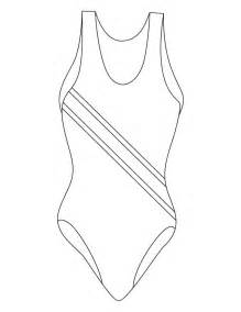 White Bathing Suit Black Outline by Image Gallery Swimsuit Drawing