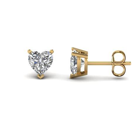 T D Stud Earring Gold Gold 3 Carat Single Stud Earring In 14k White Gold