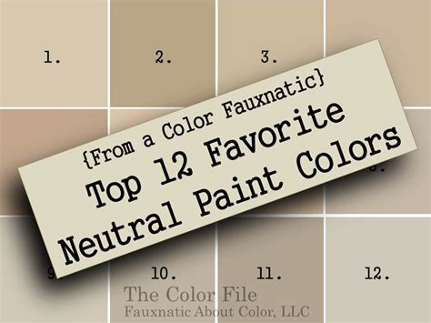 neutral beige paint colors from a color fauxnatic top 12 favorite neutral paint