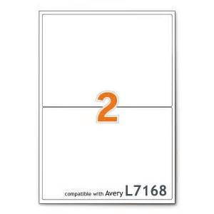 a4 mailing shipping printer labels 2 per sheet avery