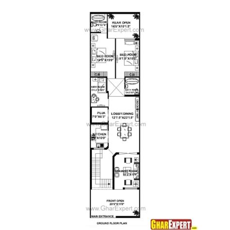 house plan for 15 by 60 plot plot size 100 square yards inspiring house plan for 21 85 plot plot size