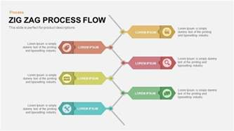process flow template zig zag process flow powerpoint and keynote template