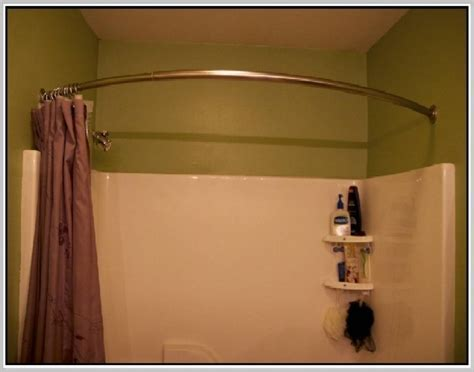 Curved Shower Curtains Curved Shower Curtain Rod For Small Showers Home Design Ideas