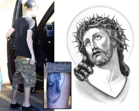 jesus tattoo justin bieber justin bieber jesus tattooforaweek temporary tattoos