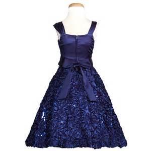 Satin sequin flower bow christmas dress girls 7 16 sophiasstyle com