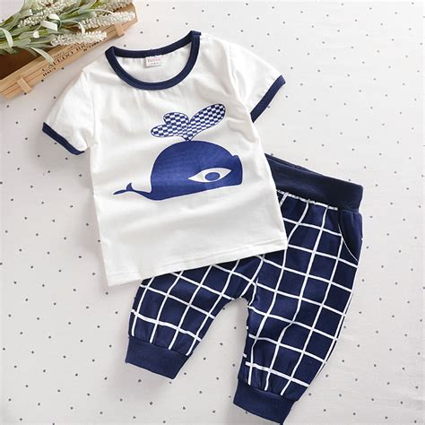 whale pattern clothes baby boys clothes whale soldier pattern t shirt lattice