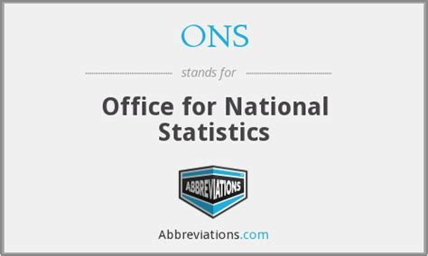Office For National Statistics by Ons Office For National Statistics