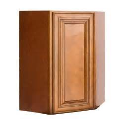 Home Depot Kitchen Cabinet Doors Lakewood Cabinets 27x42x15 In All Wood Wall Diagonal Corner Kitchen Cabinet With Single Door In