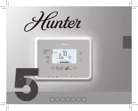 hunter fan thermostat instructions hunter fan thermostat 44377 user guide manualsonline com