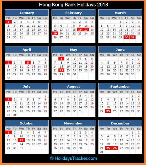 hong kong bank holidays 2018 holidays tracker