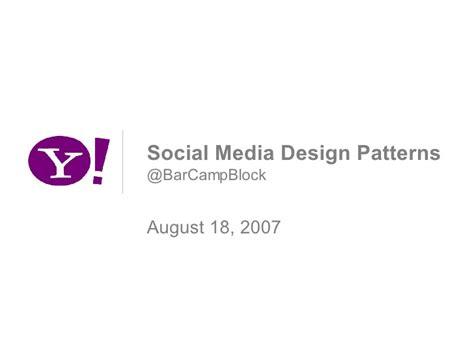 pattern making slideshare social media design patterns barcblock