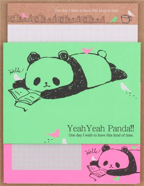 Gmb Set Mounie Panda Pink mini neon pink green panda letter set by q lia from