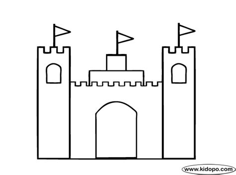 simple castle coloring page