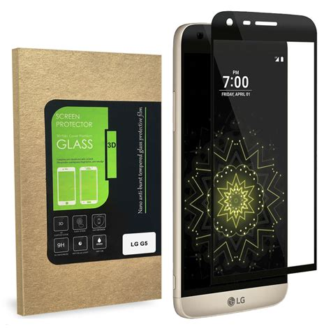 Lg G5 Tempered Glass Wawao Tw01 curved edge tempered glass screen protector lg g5 black