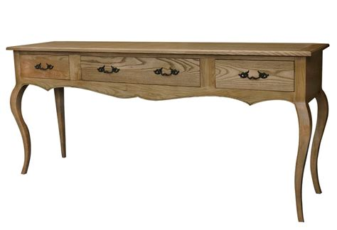 provincial console table provincial furniture oak 3 drawers console