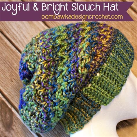 Joyful Hat joyful and bright slouch hat free crochet pattern