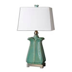 uttermost 26487 calciano teal table lamp 215 60