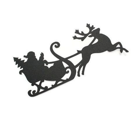 santa silhouettes the 25 best reindeer silhouette ideas on deer