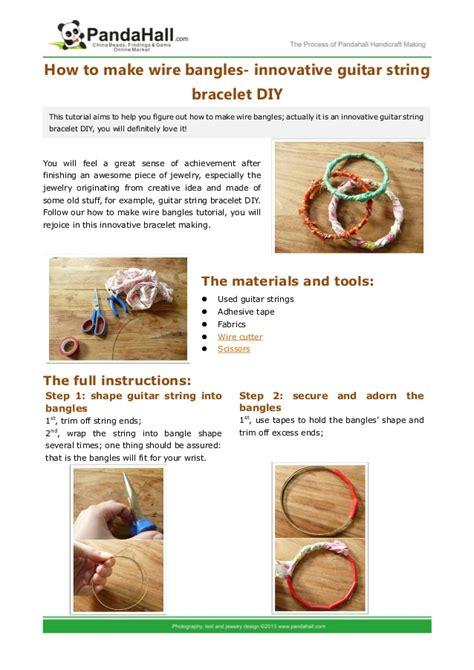 wire bangles innovative guitar string bracelet diy