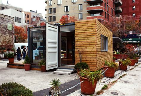 shipping container prefab home pops up in nyc s west