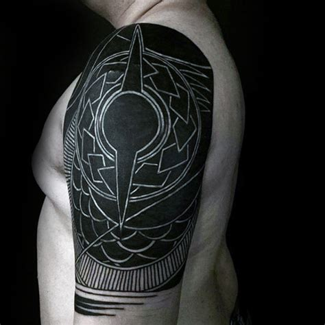 white ink over black tattoo 60 awesome sleeve tattoos for masculine design ideas