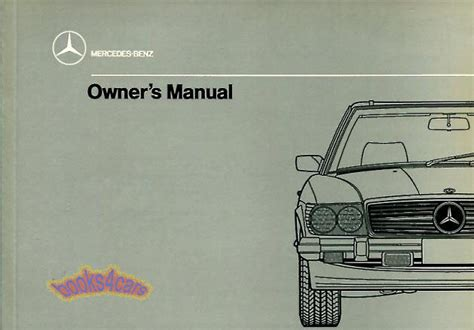 car service manuals pdf 1989 mercedes benz sl class head up 560sl owners manual mercedes 1989 book handbook guide 560