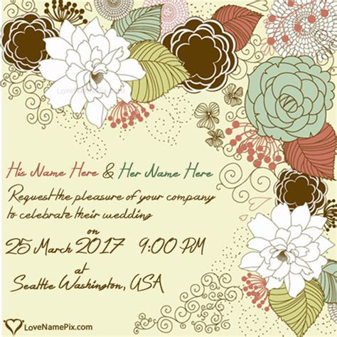 Wedding Name Design by What To Write In A Wedding Invitation Card Wedding Ideas