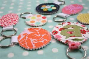 Crafts Handmade Gift Ideas - gift ideas fabric scrap keychains for