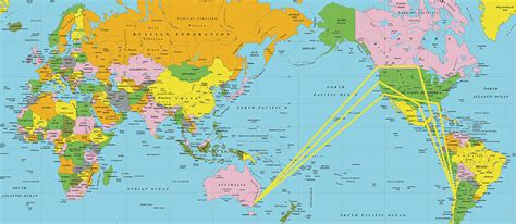 in the southern hemisphere flight routes southern hemisphere
