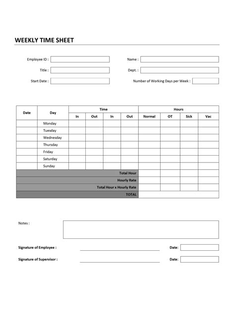 weekly invoice template weekly time sheet
