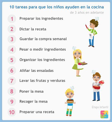 cocina para ninos 10 cosas que los ni 241 os pueden hacer en la cocina etapa