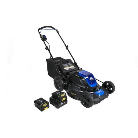 Lawn Mower Sweepstakes 2017 - kobalt 80 volt max lithium ion 21 in cordless electric push lawn mower w 2 batteries