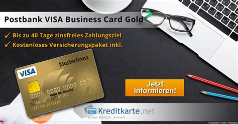kreditkarte x ite card 0 zins die postbank visa business card gold im test