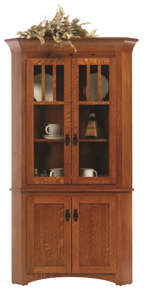 Hutch Furniture Hutches Mission Corner Hutch Frontier