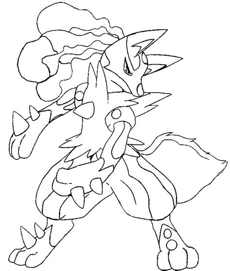 pokemon coloring pages mega salamence coloring page mega evolved pokemon mega lucario 448 448