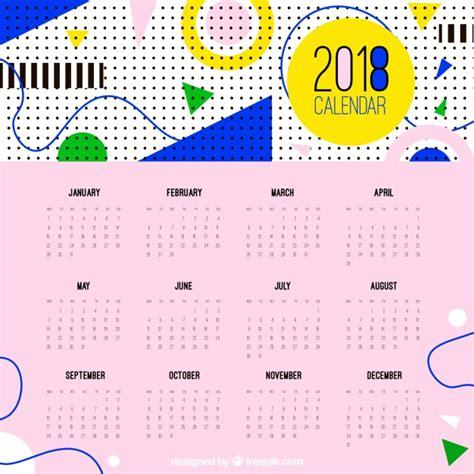 Calendario Moderno Moderno Calendario 2018 En Estilo Descargar