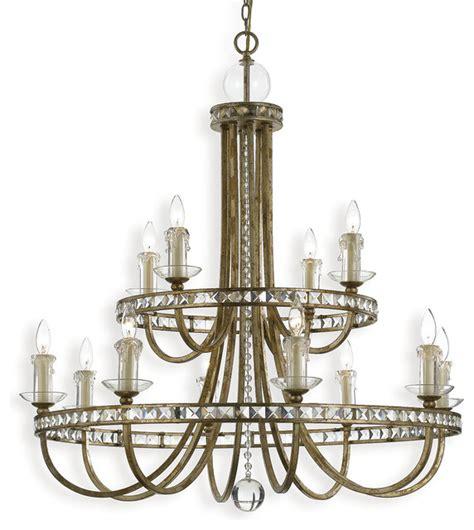 Farmhouse Chandelier Lighting Aristocrat Soft Gold Regency 12 Light