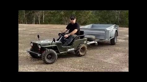 mini jeep atvmoto mini jeep trailer demo youtube